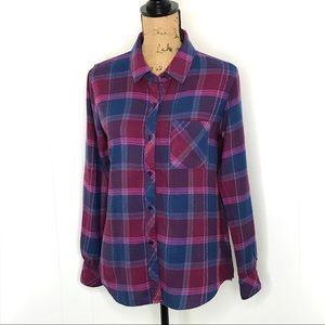 Rails Hunter Plaid Shirt-Size S-Long Sleeve-Soft